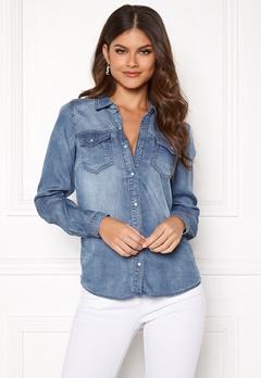 VILA Bista Denim Shirt Medium Blue Denim Bubbleroom.dk
