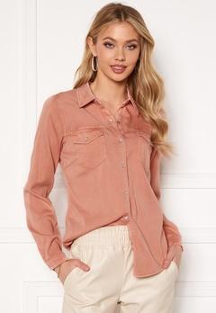 VILA Bista Denim Shirt Misty Rose Bubbleroom.dk