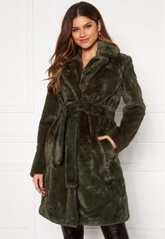 VILA Boda New Faux Fur Coat Forest Night Bubbleroom.dk
