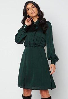 VILA Cajsa L/S Shirt Dress Darkest Spruce bubbleroom.dk