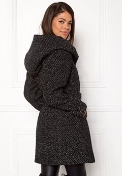 VILA Cama New Wool Coat Black Detail Bubbleroom.dk