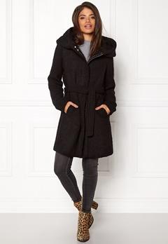 VILA Cama New Wool Coat Black Bubbleroom.dk