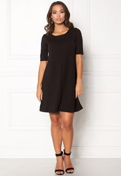 VILA Caro A-Shape Jersey Dress Black Bubbleroom.dk