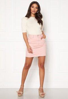 VILA Cassie Short Denim Skirt Pale Mauve Bubbleroom.dk