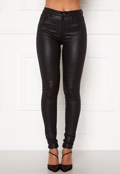 VILA Commit Glitter Coat Jeans Black Bubbleroom.dk