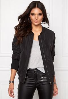 VILA Concrete new jacket Black Bubbleroom.dk