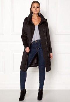 VILA Dahlia Wool Coat Black Bubbleroom.dk