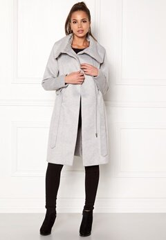 VILA Dahlia Wool Coat Light Grey Melange Bubbleroom.dk