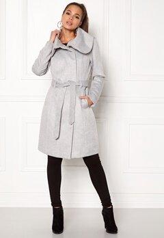 VILA Dahlia Wool Coat Light Grey Melange Bubbleroom.dk