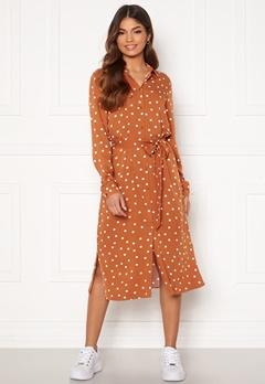 VILA Dania Belt Shirt Dress Adobe Donia Dot Bubbleroom.dk