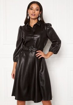 VILA Daras 3/4 Dress Black Bubbleroom.dk