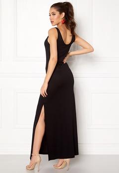 VILA Deana S/L Maxi Dress Black Bubbleroom.dk