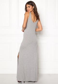VILA Deana S/L Maxi Dress Light Grey Melange Bubbleroom.dk