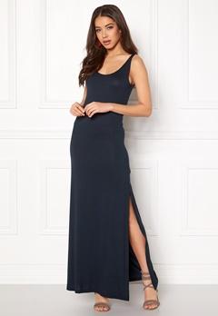 VILA Deana S/L Maxi Dress Total Eclipse Bubbleroom.dk