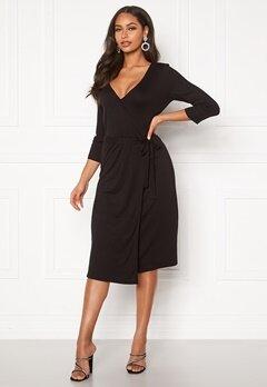 VILA Dell Wrap 3/4 Dress Black Bubbleroom.dk