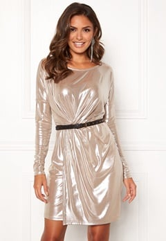 VILA Disco S/L Dress Morganite Bubbleroom.dk