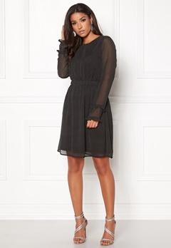 VILA Dotly L/S Dress Black Bubbleroom.dk