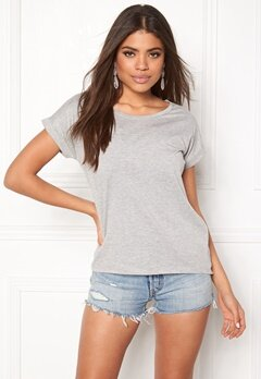 VILA Dreamers Pure T-shirt Light Grey Melange Bubbleroom.dk
