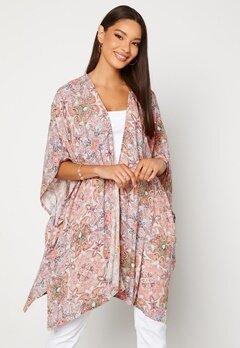 VILA Esa S/S Loose Sleeve Kimono Ecru AOP bubbleroom.dk