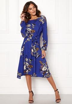 VILA Esto Sano L/S Midi Dress Clementis Blue Bubbleroom.dk