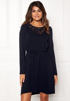 VILA Everly L/S Dress Total Eclipse Bubbleroom.dk