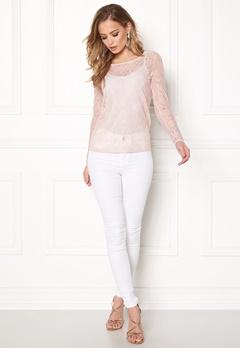 VILA Frej L/S T-shirt Peach Blush Bubbleroom.dk