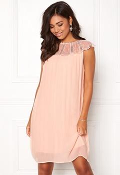 VILA Kiva S/L Dress Peach Blush Bubbleroom.dk