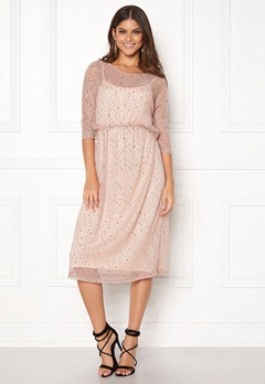VILA Kyle Long 3/4 Dress Peach Blush Bubbleroom.dk