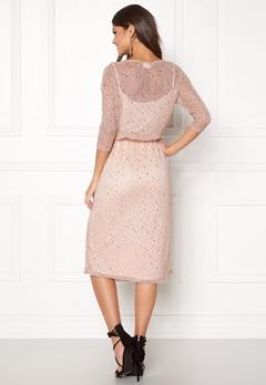 VILA Kyle Long 3/4 Dress Peach Blush Bubbleroom.dk