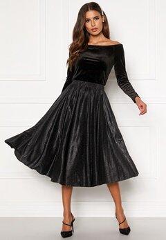 VILA Lena New Midi Skirt Black Bubbleroom.dk