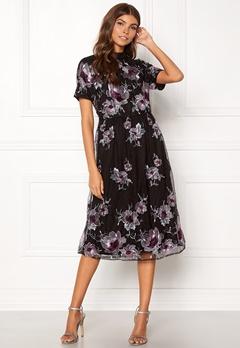 VILA Leonore S/S Dress Black Bubbleroom.dk