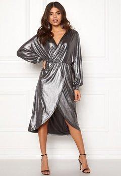 VILA Limma Midi Dress Silver Bubbleroom.dk