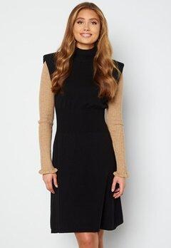VILA Liv S/L Knit Dress Black bubbleroom.dk
