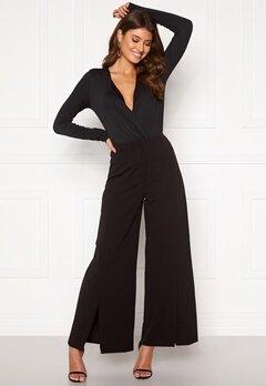 VILA Loane HW 7/8 Slit Pants Black Bubbleroom.dk
