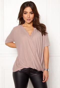 VILA Lolla S/S T-shirt/PB Adobe Rose Bubbleroom.dk