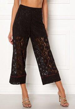VILA Luas Cropped Lace Pants Black Bubbleroom.dk
