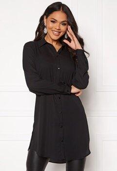 VILA Lucy Button L/S Tunic Black Bubbleroom.dk