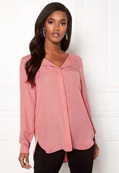 VILA Lucy L/S Shirt Brandied Apricot Bubbleroom.dk