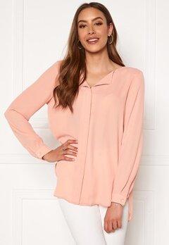 VILA Lucy L/S Shirt Misty Rose Bubbleroom.dk