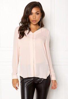 VILA Lucy L/S Shirt Peach Blush Bubbleroom.dk