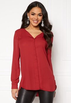 VILA Lucy L/S Shirt Scarlet Sage Bubbleroom.dk