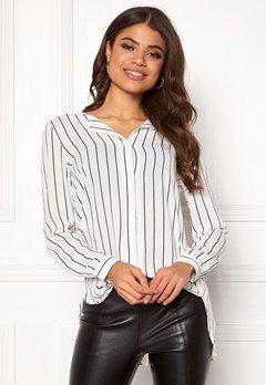 VILA Lucy L/S Shirt Snow White / Stripe Bubbleroom.dk