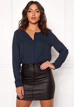 VILA Lucy L/S Shirt Total Eclipse Bubbleroom.dk