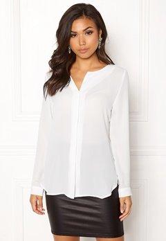 VILA Lucy L/S Shirt White Bubbleroom.dk