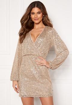 VILA Lyc L/S Short Dress Frosted Almond Bubbleroom.dk