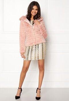VILA Maya Faux Fur Jacket Peach Whip Bubbleroom.dk