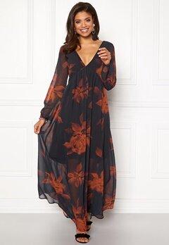 VILA Melaki 3/4 Sleeve Dress Black Bubbleroom.dk