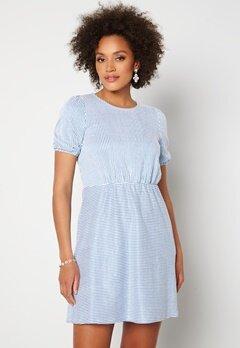 VILA Milac O-Neck S/S Dress Cashmere Blue Stripe Bubbleroom.dk