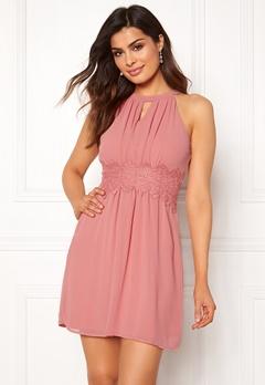 VILA Milina Halterneck Dress Brandied Apricot Bubbleroom.dk