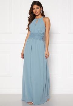 VILA Milina Maxi Dress Ashley Blue Bubbleroom.dk